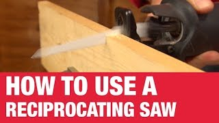 How To Use A Reciprocating Saw - Ace Hardware