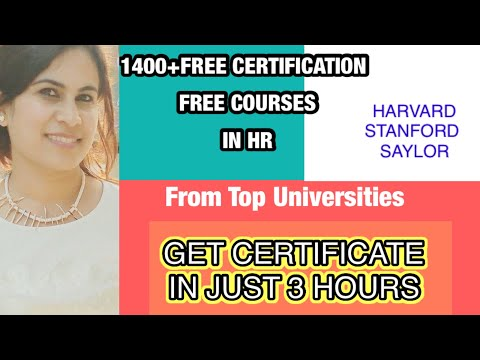 1400 plus FREE Courses IN HRM |FREE HUMAN RESOURCE ...