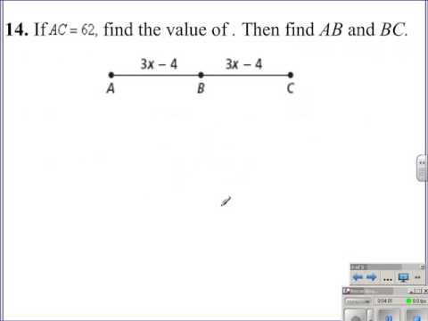 Segment Addition Postulate Algebra And Geometry Help