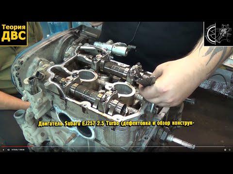 Теория ДВС: Двигатель Subaru EJ257 2.5 Turbo (дефектовка и обзор конструкции)