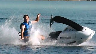 Learning To Ride A Stand Up Jet Ski - Part 2 - Helpful Hints And A Few More Spills!!