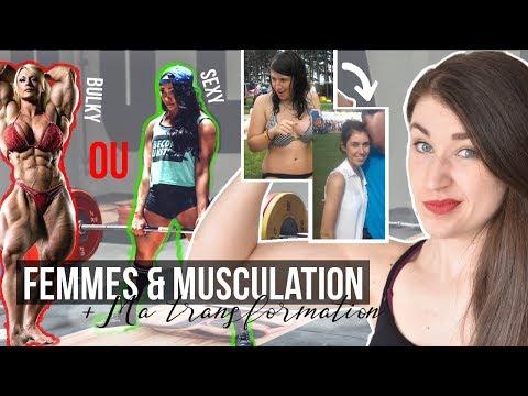 FEMMES & MUSCULATION   Mon poids, ma transformation + Entraînement Powerlifting