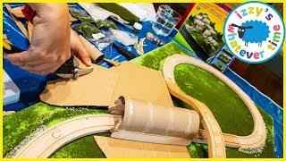 Fun Toy Trains for Kids! Diorama Mountain DIY!
