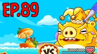 Angry Birds Fight! - MONSTER PIERROT PIG RAID - KING PIERROT HAT (SS BOMB) - EP89