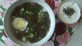 холодник из щавеля ( холодный суп )