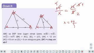 Eğitim Vadisi TYT Geometri 4.Föy Üçgenlerin Benzerliği Konu Anlatım Videoları