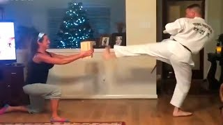 Karate at home. Hit the wife! Funny jokes that make you laugh jokes to tell friends, Happy Head