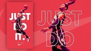 Gimp Tutorial : Basketball Sport Nike Poster Design Tutorial