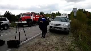 Пассажирский поезд столкнулся с КАМАЗом в Югре