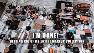 decluttering my entire makeup collection | Serein Wu