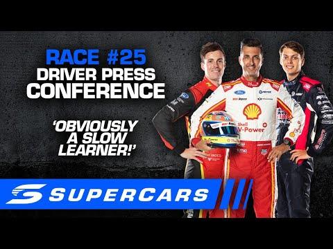 2020年 SUPERCARS OTRザベンド500 土曜日に行われたドライバーのプレスカンファレンスの様子をおさめた動画