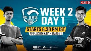 [EN] PMPL South Asia Day 1 W 2 | PUBG MOBILE Pro League S1