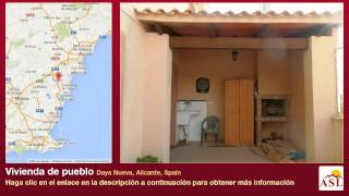preview picture of video 'Vivienda de pueblo se Vende en Daya Nueva, Alicante, Spain'