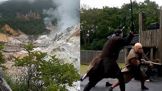 Eksotika Kawah Neraka dan Pertunjukan Samurai di Hokkaido Jepang