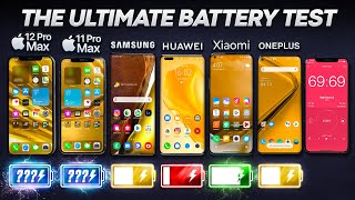 iPhone 12 Pro Max vs Samsung Note 20 Ultra / Huawei / Xiaomi / OnePlus Battery Life DRAIN Test