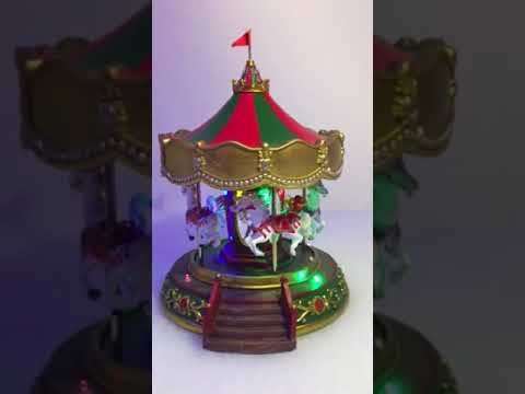 Carousel Christmas Lights Scene Video