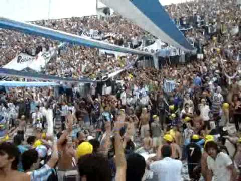 """Hinchada Racing club vs Independiente"" Barra: La Guardia Imperial • Club: Racing Club • País: Argentina"