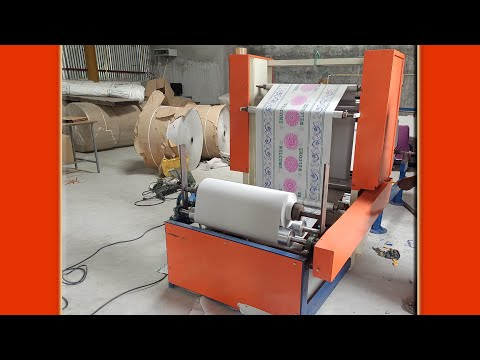 Table Top Paper Roll Flexo Printing Three color Single Deck Separate Rewinding Machine Unit