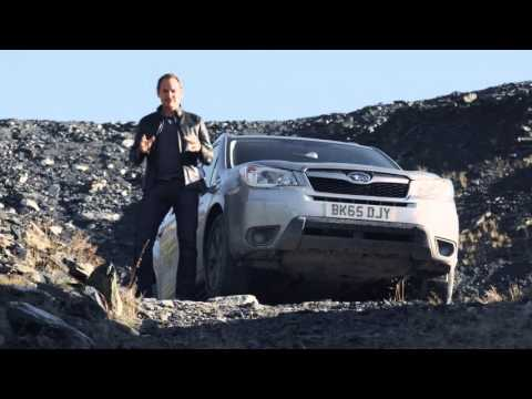Former Top Gear 'Stig' Test Drives The Subaru Forester