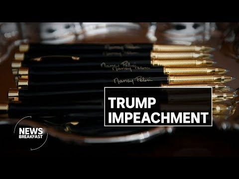 """Perfect"" phones calls and Pelosi's pens - Chas Licciardello on Trump's impeachment 