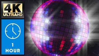 Spinning Disco Ball Loop | 4K | Relaxing Screensaver | 1 Hour | No Sound | Calm Baby