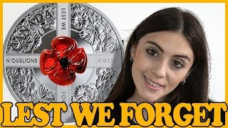 🌹 LEST WE FORGET 🌹REVIEW: Murano Poppy - 1 Oz Silver Coin - Canada 2019