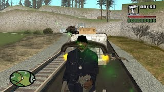 Where does the train go during the mission Green Goo? Airstrip mission 5