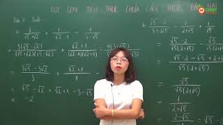 Toán 9 - Rút gọn biểu thức chứa căn thức bậc 2 tiết 1
