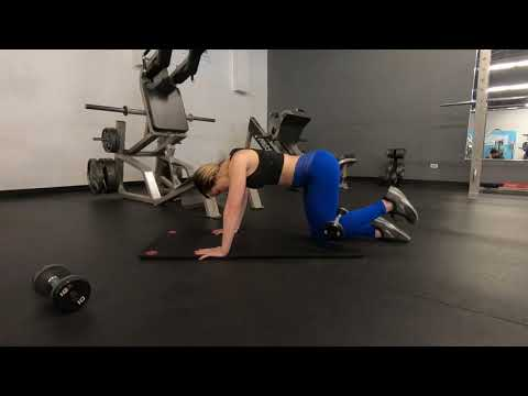 Kneeling Glute Kickback With Dumbbell