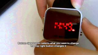 Mirror Led Watch tutorial and short review
