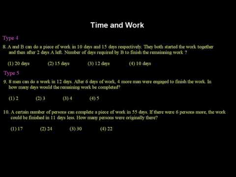 Time and Work Practice Questions
