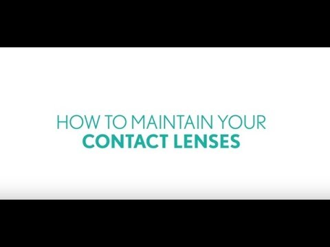 How to maintain your contact lenses