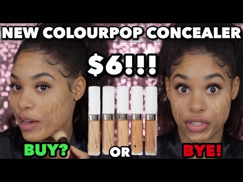 TRYING NEW COLOURPOP CONCEALERS!!! | FIRST IMPRESSIONS & REVIEW