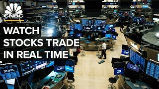 Watch stocks trade in real time following a massive 3-day rally - 3/27/2020