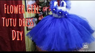 How To Make A Tutu Dress For Special Occasion Flower Girl, Birthday || Diy