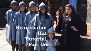 Beauxbaton Hat Tutorial Part 1 (Inexpensive Harry Potter Cosplay)
