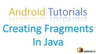 #106 Adding Fragments in Java Part 1: Android Tutorial For Beginners [HD 1080p]
