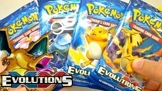 Pokemon Cards - XY Evolutions Prerelease Booster Pack Opening! [Base Set Reprint Goodness]