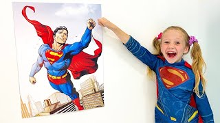 Nastya and a kids song about a Superhero. Songs for Kids