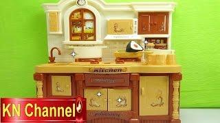Đồ chơi trẻ em Bé Na làm bếp Nhà bếp giả gỗ nấu ăn cooking Kitchen kid toys