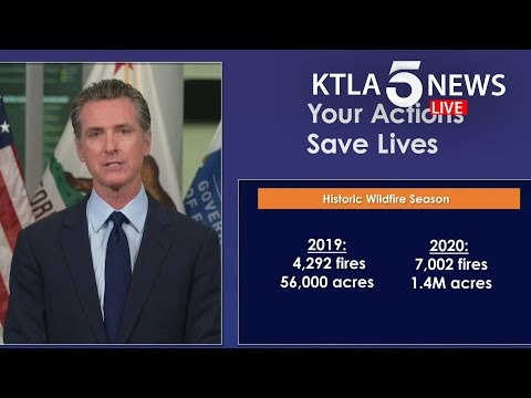 Gov. Gavin Newsom addresses California's response to COVID-19 and wildfires burning throughout state