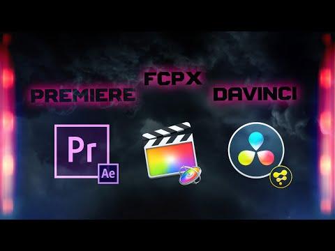 FCP X / DAVINCI / PREMIERE :  FAIRE LE BON CHOIX POUR 2020