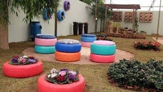 60 + Creative Ideas Reuse Old Tires  For Home Decoration 2017  - From Recycle Tyres