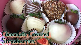 HOW TO MAKE CHOCOLATE DIPPED STRAWBERRIES - EASY