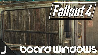 Fallout 4 - How To Board Up Windows! [Door Mat Glitch]