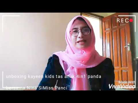 Video unboxing barang kayeen kids tas anal 4in1 panda