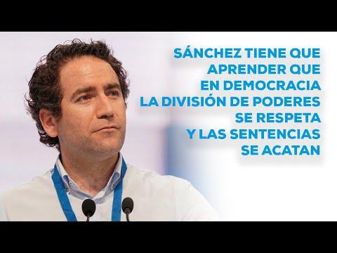 """Egea: """"Sánchez tiene que aprender que la división de poderes se respeta y las sentencias se acatan"""""""