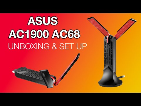 Unboxing/Set Up Asus AC1900 AC68 WiFi USB Adapter