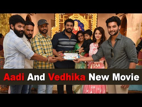 aadi-sai-kumar-and-vedhika-new-movie-opening