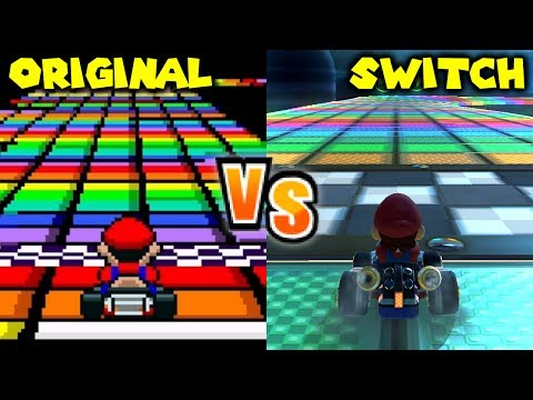 Mario Kart 8 Deluxe - Retro Track Comparison (Switch vs SNES, N64, GBA, GCN, DS, Wii, 3DS)
